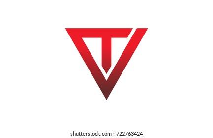 Triangle Solution Letter V T