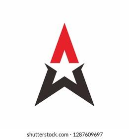 Triangle Star Arrow Business Company  Vector Logo Design