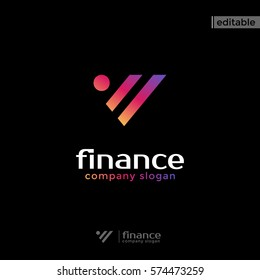 triangle statistic plus one circle finance logo. modern eye catching logo