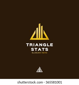Triangle stats logo template