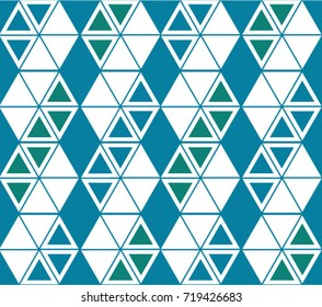 Triangle stripes blue and teal