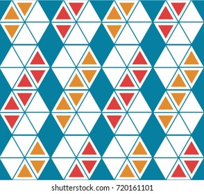 Triangle strips red and orange