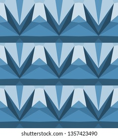 Triangle texture abstract, deep color blue