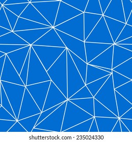 Triangle vector seamless pattern, cute geometric tile