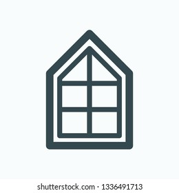 Triangle window isolated vector icon