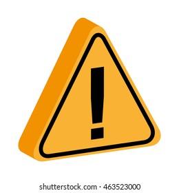 triangle yellow information signal icon vector illustration design