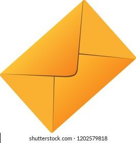 Triangle Yellow postal envelope vector art graphic design