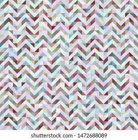 triangle zig zag seamlass pettern in pastel colors