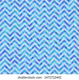 triangle zig zag seamlass pettern in blue colors - abstract water wave background