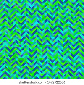 triangle zig zag seamlass pettern in blue green colors