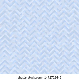 triangle zig zag seamless pettern in pastel blue colors
