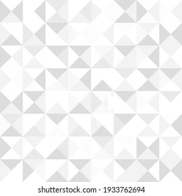 Triangles abstract geometric pattern. Grey and white background. Geometric triangular design. Elegant editable wallpaper template