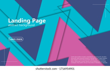 Triangles Background. Minimal layout. Modern triangles design. 3d geometric background. Cover layout magazines template. Abstract paper cut. Vector.