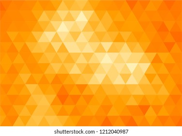 Triangles orange background