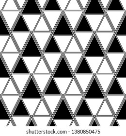 Triangles, rhombuses, parallelograms, trapeziums pattern. Geometrical figures wallpaper. Geometric background. Shapes backdrop. Digital paper, abstract. Seamless ornament