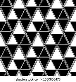 Triangles, rhombuses, parallelograms, trapeziums pattern. Geometrical figures wallpaper. Geometric background. Shapes backdrop. Digital paper, abstract. Seamless ornament.