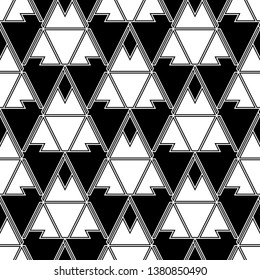 Triangles, rhombuses, parallelograms, trapeziums, polygons pattern. Geometrical figures wallpaper. Geometric background. Shapes backdrop. Digital paper, abstract. Seamless ornament