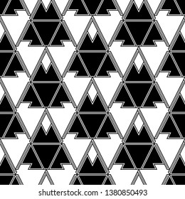 Triangles, rhombuses, parallelograms, trapeziums, polygons pattern. Geometrical figures wallpaper. Geometric background. Shapes backdrop. Digital paper, abstract. Seamless ornament.
