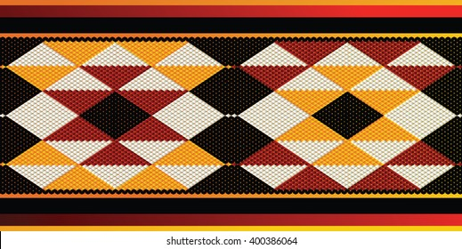 Triangles Sadu Style Weaving Theme Background