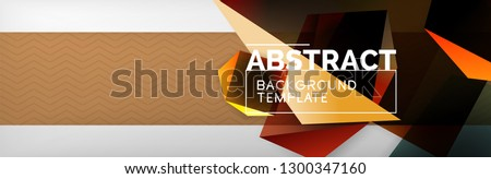 Triangular 3 D Geometric Shapes Composition Abstract Stock