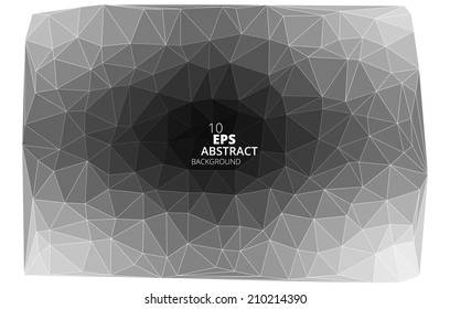 Triangular abstract black and white background eps10 vector