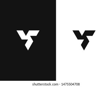 Triangular abstract sacral geometry. Vector art of three-cornered symbol. Minimalistic triangle geometric logo with ethno style. Negative or black and white template design.