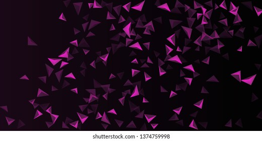 Triangular background. Abstract composition of 3d triangles. Futuristic geometric background.  3D vector illustration . Mangent  three-dimensional triangle in space.