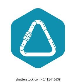 Triangular carabine icon. Simple illustration of triangular carabine vector icon for web design isolated on white background