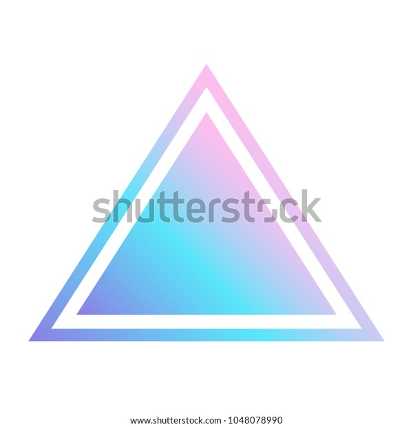 Triangular Figure Holograms Gradient Triangle On Stock Vector