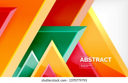 Triangular low poly background design, multicolored triangles. Vector illustration