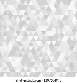 Triangular  low poly, light grey, silver, mosaic pattern background, Vector polygonal illustration graphic, Creative, Origami style with gradient