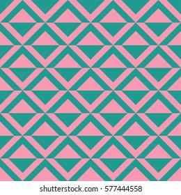Triangular pattern pink and green
