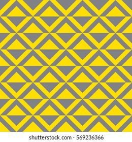 Triangular pattern yellow and grey
