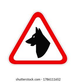 Triangular red Warning Hazard Symbol, vector illustration