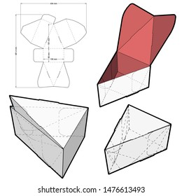 Triangular Self Assembly Packaging and Die-cut Pattern