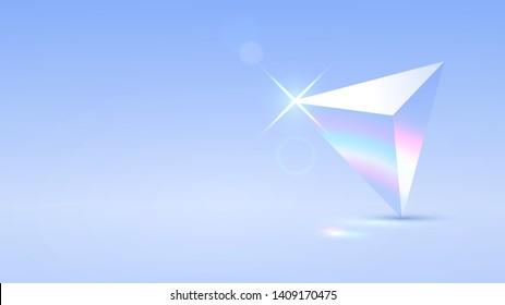 Triangular transparent prism and spectrum of light