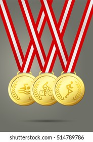 Triathlon Gold Medals