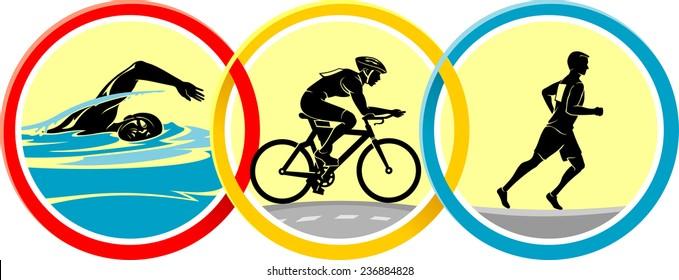 Triathlon Icon Set