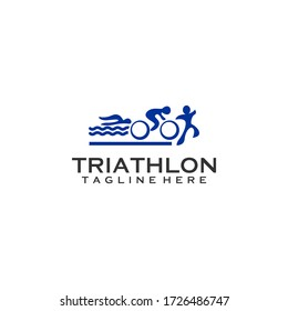 Triathlon Logo Design Vector Template