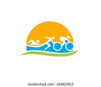 triathlon logo vector