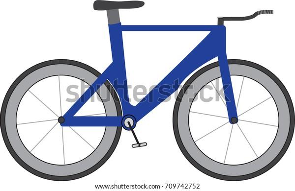 Triathlon Time Trial Bike Icon Blue Stock Vector (Royalty