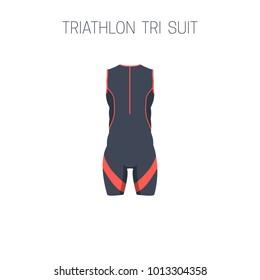 Triathlon tri suit. Vector illustration.