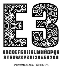 Tribal Alphabet Images Stock Photos Vectors Shutterstock