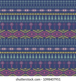 Tribal art pattern. Ethnic geometric print. berber colorful repeating background texture.