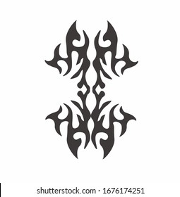 Tribal art tattoo set with Maori ethnic elements