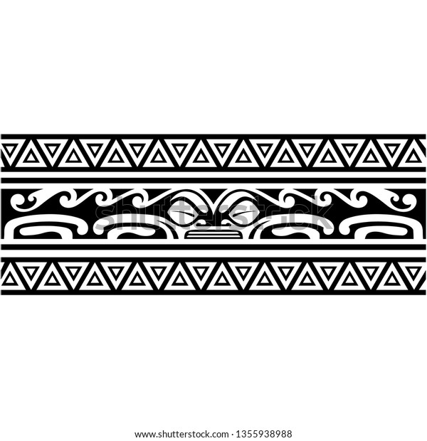 Tribal Bracelet Polynesian Tattoo Wrist Pattern