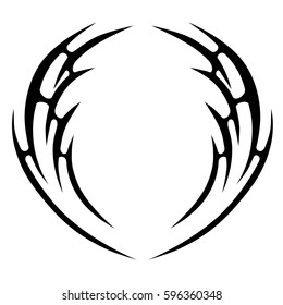 tribal celtic design, fantasy wave vector  sketch. Simple logo.