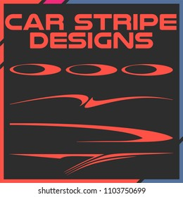 Tribal and cool Car stripe design set. Adhesive Vinyl stickers design for vehicles