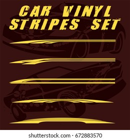 Tribal and cool Car stripe set top print on vinyl and adhesive on vehicle