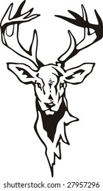 Tribal Deer vector illustration, great for vehicle graphics, stickers and T-shirt designs. Ready for vinyl cutting.